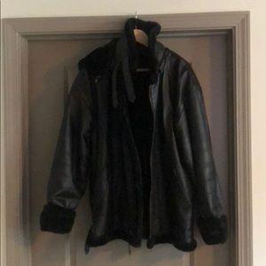 Men's Sherlyn Leather coat, like new